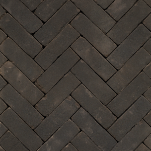 Gebakken DF Nero getrommeld VB (zwart bezand) 20×6,4×8,5