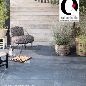 SoloStone Uni Douglas&Jones Minerals Black 90x90x3