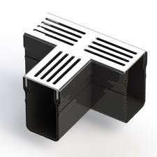 Stardrain T-verbinding 6,5x10cm Grijs aluminium