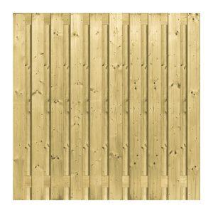 Scherm Vuren 21 planks bij betonpalen 180×180