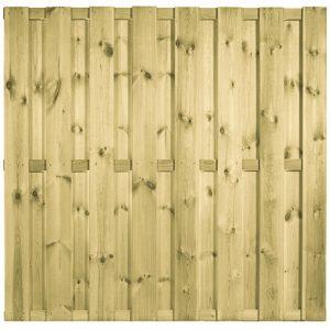 Scherm Grenen 19 planks bij betonpalen 180×180