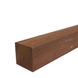 Azobe hardhouten Paal geschaafd 6,5×6,5×275
