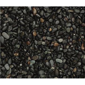 25 kg Beach Pebbles Black 8-16mm
