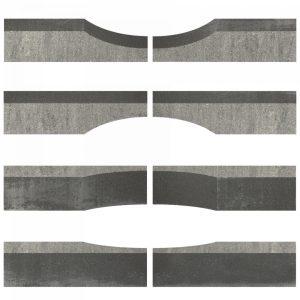 Linia Excellence Wave 15x15x60 Grijs / zwart