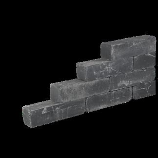 Blockstone Getrommeld 15x15x30 Black