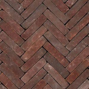 Gebakken UWF Ruston getrommeld VB (paars rood bezand) 20x5x6,5