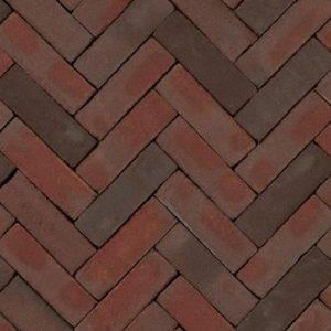 Gebakken UDF Ruston strak VB (paars rood bezand) 20×6,5×6,5
