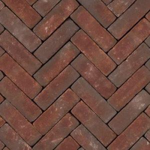 Gebakken UDF Ruston getrommeld VB (paars rood bezand) 20×6,5×6,5